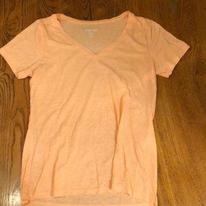 Neon orange v-neck tshirt